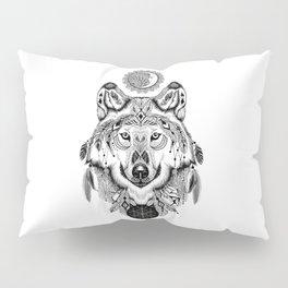 Bohemian Celestial Wolf Pillow Sham