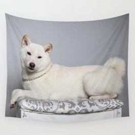 Cream Shiba Inu Dog Wall Tapestry