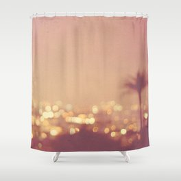 Summer Nights. Los Angeles at night photograph. Shower Curtain