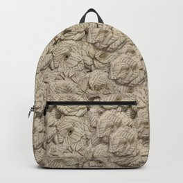 Book Page Flower Roses Backpack