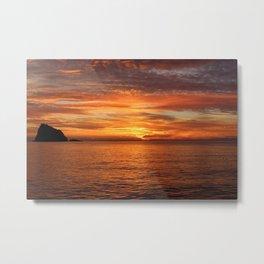 Sunset Sea Afterglow Metal Print