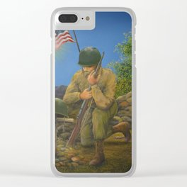 A Soldier's Goodbye Clear iPhone Case