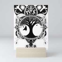 Odin Knotwork - Inspired by Traditional Nordic Artwork Print Mini Art Print