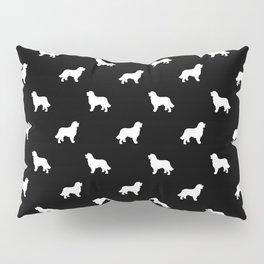 Bernese Mountain Dog pet silhouette dog breed minimal black and white pattern Pillow Sham