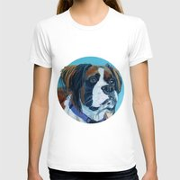 nori T-shirts featuring Nori the Therapy Boxer by Barking Dog Creations Studio