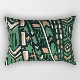 Tribal lino print  Rectangular Pillow