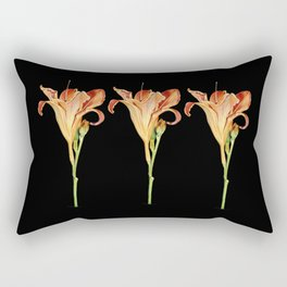 Orange Daylily Illustration Rectangular Pillow
