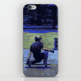 Just Cruisin'  - Skateboarder iPhone Skin