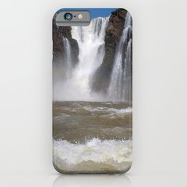 Iguazu Iguassu Waterfall Landscape Panorama Scenery, Brazil Argentina 2 iPhone Case