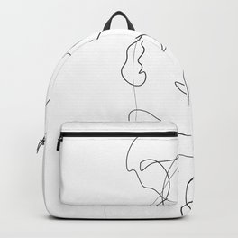 Lovers - Minimal Line Drawing Backpack