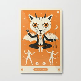 TAROT CARD CAT: THE DEVIL Metal Print