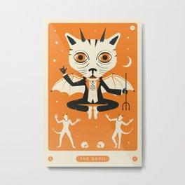 TAROT CARD CAT: THE DEVIL Metal Print