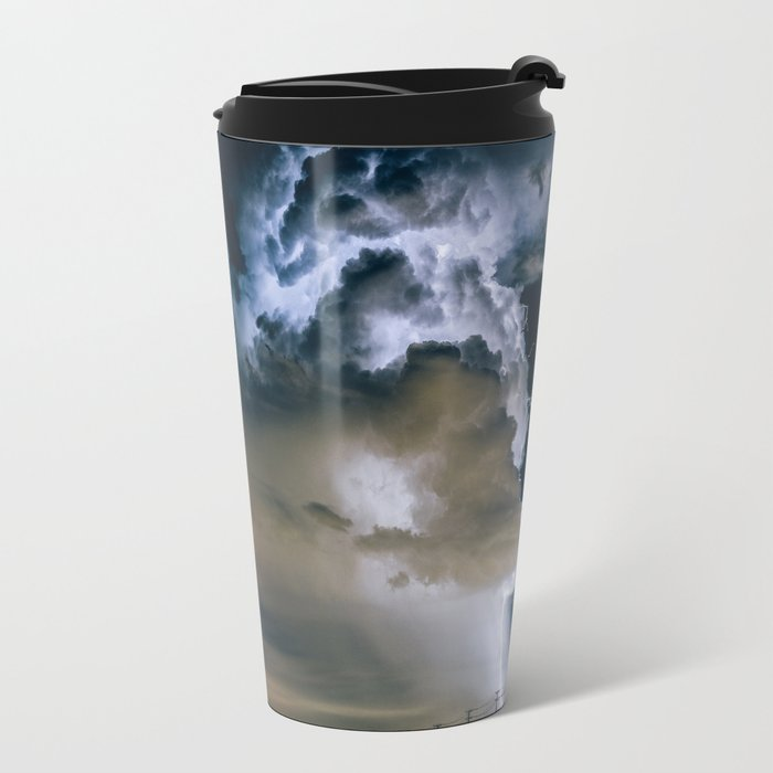 Lightning #clouds Travel Mug