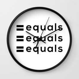 equals = equals Wall Clock
