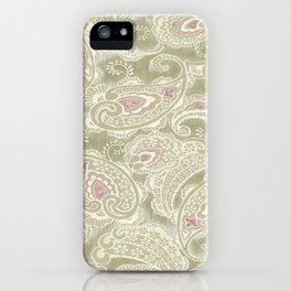 batik paisley warm iPhone Case