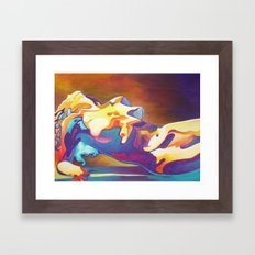 The United Colours of Orgasm Thermal Nude Framed Art Print