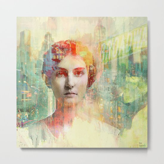 A simple girl Metal Print