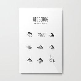 Hedgehog Poster Metal Print
