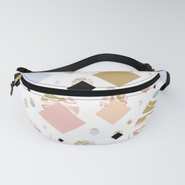 Geometric Pastel Marble Fanny Pack