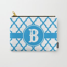 Blue Monogram: Letter B Carry-All Pouch