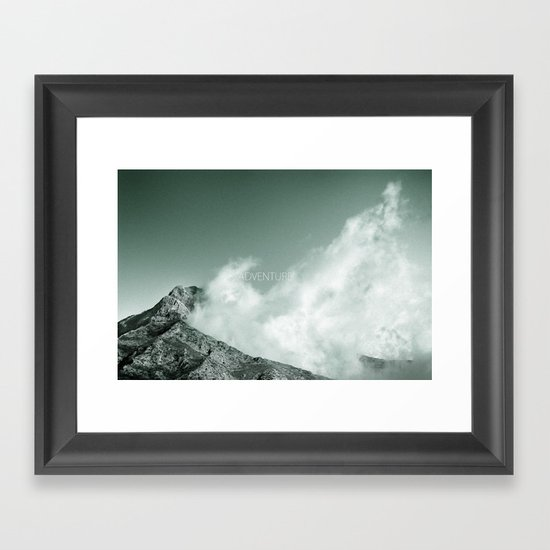 """""""Adventure at the mountain"""" Framed Art Print"""