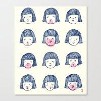 bubble Canvas Prints featuring Bubble bubble bubble gum by Young Ju