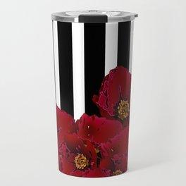 Poppy Stripes - Red Travel Mug