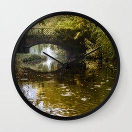 Autumn at Lady's Bridge Wall Clock
