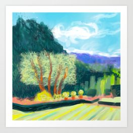 Filoli trees Art Print