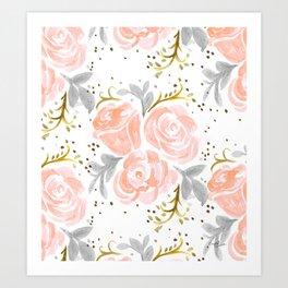 Sparkling Rosé flora Art Print