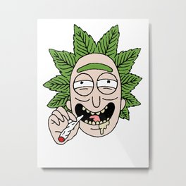 Rick weed fan art Metal Print