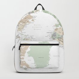 """World map with cities, """"Anouk"""" Backpack"""