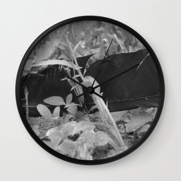 Black plume Wall Clock