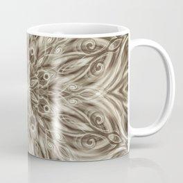 off white sepia swirl mandala Coffee Mug