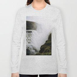 Gullfoss waterfall in Iceland - Landscape Photography Long Sleeve T-shirt