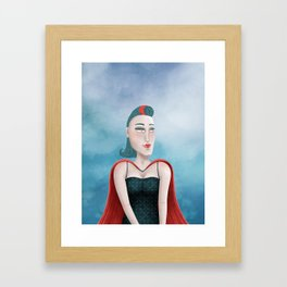 Dreamy Heroine Framed Art Print