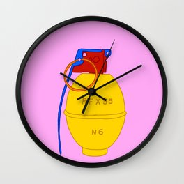 N6 Hand Grenade Wall Clock