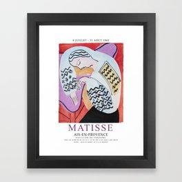 Matisse Exhibition - Aix-en-Provence - The Dream Artwork Framed Art Print