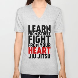 Learn from the Street Jiu Jitsu Unisex V-Neck