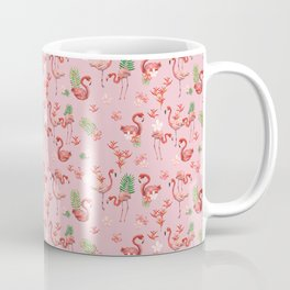 Pattern - watercolor tropical flamingo Coffee Mug