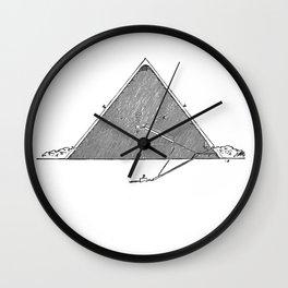 The Great Pyramid (no caption!) Wall Clock