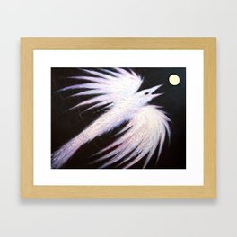 Ice Raven Framed Art Print