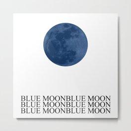 Blue Moon || #society6 #buyart #decore Metal Print