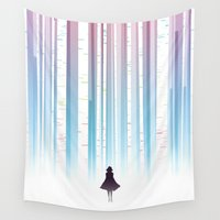 birch Wall Tapestries featuring Birch by Scott Uminga