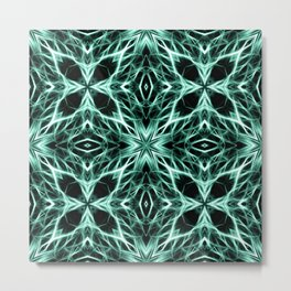 Abstract Geometric Light Factual Kelly Green Metal Print