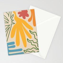 Modern Retro Geometric Natural Floral Leaf Design VIII Stationery Cards