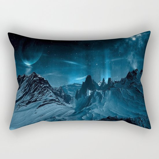 dark mountains Rectangular Pillow