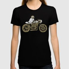 Let's Ride Womens Fitted Tee SMALL Black