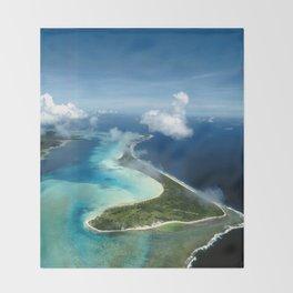 Bora Bora: South Pacific Paradise Throw Blanket