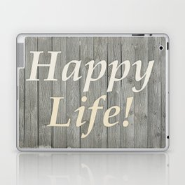 Happy Life Letters Shabby Style Poster Laptop & iPad Skin